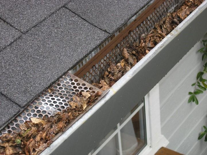 Fall maintenance full gutters
